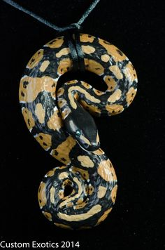 Hand Painted Polymer Clay Normal Ball Python Pendant