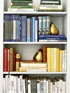 Search Results For 16 Things Every Girl Should Have Before Turning 30 Story Image All Domino Bookshelf Organization Bookshelf Styling Color Coded Shelves