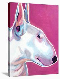 Bull Terrier Pet Portrait DawgArt Dog Art Pet by dawgpainter English Bull Terriers, Bull Terrier Dog, Scott Terrier, Yorkie Terrier, Fox Terriers, Bully Dog, Happy Art, Artist Canvas, Animal Photography