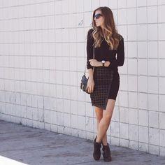 ALL BLACK | LOOKBOOK #leather skirt
