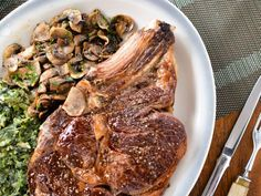 Fall is in the air - how about  my #recipe for Steakhouse Ribeye Steak w/ Creamed Spinach for supper on @FoodNetwork?