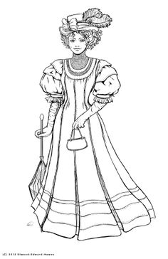 Dress Coloring Pages for Adults Luxury Pin by Paty Floyd On Victorian Coloring Coloring Book Pages, Printable Coloring Pages, Coloring Sheets, Victorian Women, Victorian House, Victorian Fashion, Vintage Fashion, Colorful Pictures, Colorful Fashion