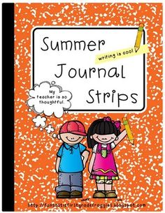 Summer journal strips- a great gift for students to keep their minds working.