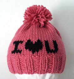 Hand-Knit Child Valentine's Day Theme Hats by tHatsCozy on Etsy