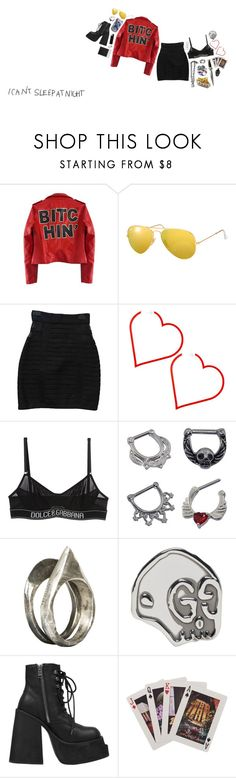 """""""my friends they give me bad advice"""" by floodrats ❤ liked on Polyvore featuring High Heels Suicide, Ray-Ban, Balmain, Dolce&Gabbana, D&M, CO, Unearthen, Gucci, UNIF and Kate Spade"""