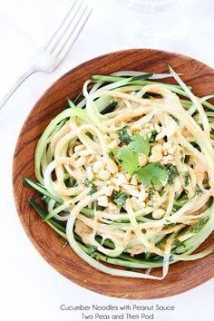 Cucumber Noodles with Peanut Sauce Recipe