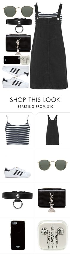 """Untitled #496"" by anassantos ❤ liked on Polyvore featuring Topshop, adidas, Ray-Ban, Carven, Yves Saint Laurent and Givenchy"