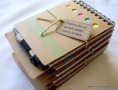 Teacher Appreciation Gifts #PYPnotebooks #washitape #bakerstwine