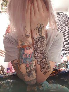 #girlswithtattoos #sleevetattoo #love #color #happy #tattoos #fairy #earthangel #universe #crystals #gypsy #tattoo #mandala #unicorn #art #tattooedgirls #butterfly #bumblebee