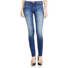 BLANKNYC High Waisted Skinny Jeans in Bae Watch ($88) ❤ liked on Polyvore