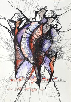 "Saatchi Art Artist Boicu Marinela; Drawing, ""dance"" #art"