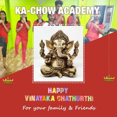 May Lord Ganesha bless you with all the happiness & success. Greetings from KA-CHOW ACADEMY! Ganpati Bappa, Smart City, Lord Ganesha, Chow Chow, Friends Family, Celebrations, Blessed, Comic Books, Happiness