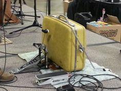 DIY suitcase kick drum