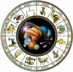 With earth in the center this diagram depicts the 12 rasis or de twaalf dierenriemtekens ccuart Choice Image