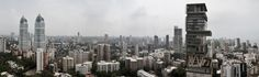 Architecture BRIO - Panorama Skyline of South Mumbai Ambani Tower - Imperial Tower