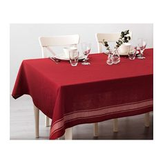 """Ikea's Holiday Collection Is A """"Choose Your Own Adventure"""" #refinery29  http://www.refinery29.com/2016/11/128418/ikea-holiday-catalog-2016#slide-7  Ikea Vinter 2016 Table Cloth, 19.99, available at Ikea...."""