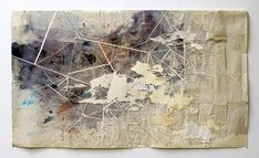 Beautiful map-like mixed media paper works by Val Britton.
