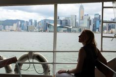 A fun and inexpensive way to enjoy Hong Kong's skyline is on the Star Ferry. #hongkong #travel #victoriaharbour