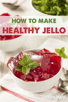 This healthy and homemade Jello recipe is made with grass fed gelatin and no added sugar or artificial ingredients for a healthy treat. Grass Fed Gelatin, Beef Gelatin, Gelatin Recipes, Jello Recipes, Baby Food Recipes, Cooking Recipes, Paleo Jello, Drink Recipes, Healthy Eating Recipes