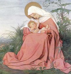 Madonna and Baby Jesus. Religious Pictures, Jesus Pictures, Religious Icons, Religious Art, Blessed Mother Mary, Divine Mother, Blessed Virgin Mary, Madonna Und Kind, Madonna And Child