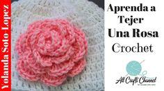 Aprenda a tejer un rosa en crochet