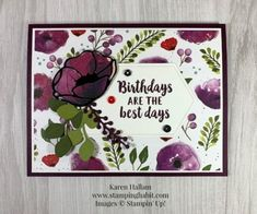 Shop Online for Stampin' Up! Products - Mary Fish, Stampin' Pretty WOW Picks from my Pals Stamping Community. Stampin Pretty, Stampin Up, Adult Birthday Party, Birthday Cards, Poppy Cards, Mary Fish, Hybrid Tea Roses, Stamping Up Cards, Pretty Cards