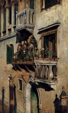 Venice, 1877 // by William Merritt Chase
