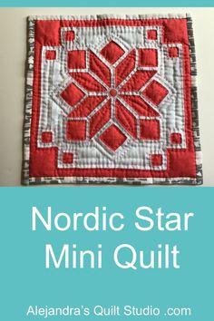 Nordic Star Mini Quilt Patchwork Tutorial, Applique Tutorial, Quilt Studio, Reverse Applique, Quilting Ideas, Quilts, Stars, Mini, Pattern