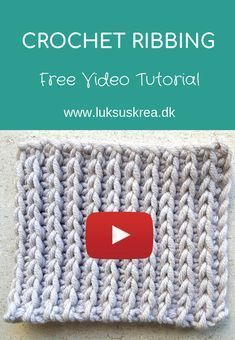 Pretty and super stretchy crochet ribbing easy and free videotutorial crochetribbing crochetvideotutorial crochetribstich crochetsweatertutorial crochettechniques crochetstich beginnercrochet easycrochettutorial Ribbed Crochet, Gilet Crochet, Crochet Chain, Crochet Diy, Single Crochet Stitch, Double Crochet, Tunisian Crochet Stitches, Crochet Dishcloths, Crochet Stitches Patterns