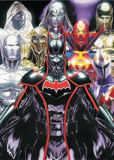 Cover by Ross  The final hardcover volume of the lushly illustrated maxiseries by Alex Ross, Jim Krueger and Doug Braithwaite collects issues #9-12! The Super-Villains' plot to exploit the innocent thickens as the heroes discover that it may even affect their comrades, colleagues and co-combatants! Guest-starring Black Adam, the Marvel Family, Doom Patrol, the Metal Men, the Titans, Supergirl and more!