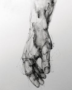 Eric Lacombe Etude / 36x48cm / #ink #acrylic on paper