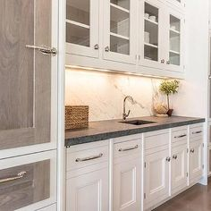 Glass Front Kitchen Cabinets Over Prep Sink Custom Kitchen Cabinets, Kitchen Cabinet Design, Custom Kitchens, Kitchen Flooring, Kitchen Countertops, Kitchen Backsplash, New Kitchen, Kitchen Decor, Kitchen Wood