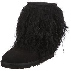 UGG Australia Women's Sheepskin Cuff Boots Black * Want additional info? Click on the image.
