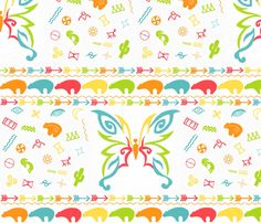 Southwest 'The Bringer of Dreams' Nursery Bedding  fabric by heckadoodledo on Spoonflower - custom fabric