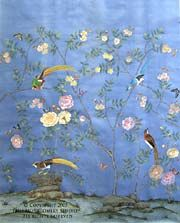 Beautiful hand painted wallpaper by Paul Montgomery