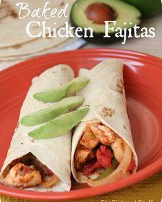 Baked Chicken Fajitas   ••~•~•  LIKE  SHARE  ENJOY  •~•~•• http://extremeskinnyteam.onebigpowerline.com/?SOURCE=Funny