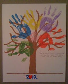 Draw the tree first and then let kids put hand prints all over @Tonya N Tanse Herrmann