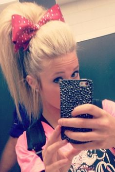 Carly Manning cheer hair.  How do you get this perfect poof?!