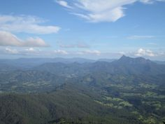 A photo taken from one of the many lookouts within Springbrook National Park, Gold Coast Australia