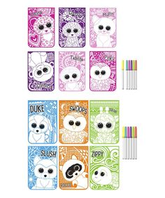 Take a look at this Beanie Boos Pink & Blue Velvet Poster Coloring Book - Set of Two today!