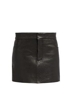 Tumbled-leather mini pencil skirt | Raey | MATCHESFASHION.COM US