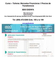 Curso – Talleres: Mercados Financieros // Precios de Transferencia - Publicidad