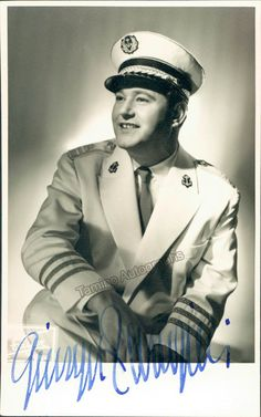 Italian tenor (1924-1981), signed photo, shown as Pinkerton in Madama Butterfly. Stamped on verso by photographer Fayer, Vienna. Size is 3.25 x 5.25 inches.