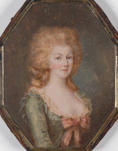 Portrait en miniature de la reine Marie-Antoinette par Francois Dumont.