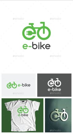 Buy Electric Bike Logo by Denzla on GraphicRiver. This simple logo is nice combination of a bicycle and electric plug and it can be great brand for ecological and elec. Logo Velo, Bike Logo, Logos, Logo Branding, Velo Biking, Cycling T Shirts, Web Design, Logo Design, Bike Brands