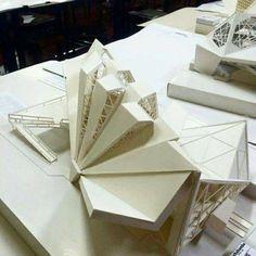 New Ideas Origami Architecture Sketch Folding Architecture, Maquette Architecture, Concept Models Architecture, Architecture Model Making, Parametric Architecture, Modern Architecture Design, Industrial Architecture, Facade Architecture, Residential Architecture