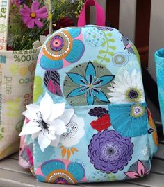 Download pattern to stitch up Backpack www.jackieclarkdesigns.com