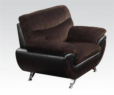 Wilona Black Bonded Leather Pillow Top Arms Chair