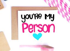 Items Similar To Youre My Person Cute Boyfriend Card Husband Fiance Valentines Day Vday For Her Cards Best Friend