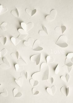 unconditional love paper hearts byMarianne LoMonaco